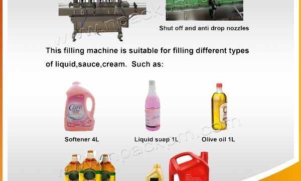 Аутоматска машина за пуњење уља за пуњење 2, 4, 6, 8, 10, 12 глава
