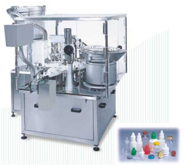 Аутоматска машина за пуњење течних ротационих флаша са поклопцем