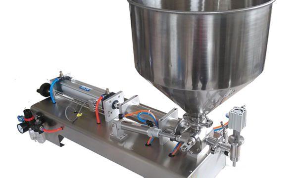 Полуаутоматска машина за пуњење меденог стакленог клипа