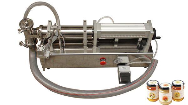 Полу-аутоматска машина за пуњење течног меда високе вискозности